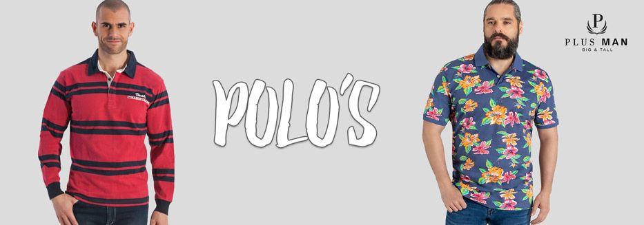 Grote maten polo's voor heren