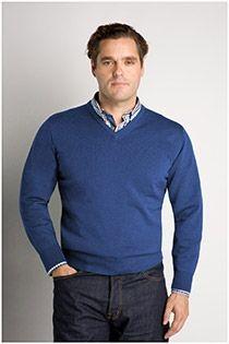 Wollen trui met V-hals van Plusman