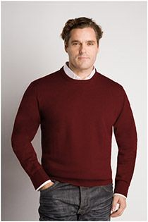 Extra lange wollen trui van Plusman