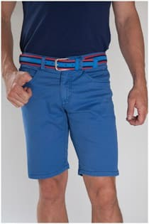 Elastische 5 pocket short van Plus Man