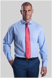 Dress overhemd effen met contrasten van Plus Man
