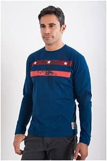 T-Shirt met adelaarsprint van Kitaro