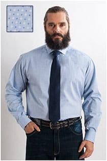 Dress overhemd printje van Plus Man