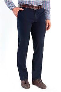 Chino broek met stretch van Plus Man.