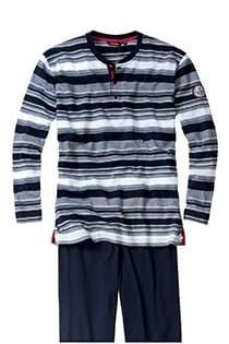 Lange mouw gestreepte pyjama van Ceceba
