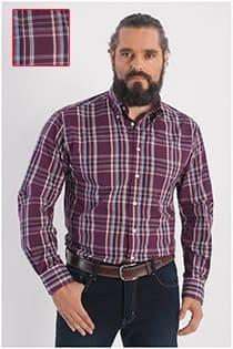 Ruiten lange mouw overhemd van GCM Henderson