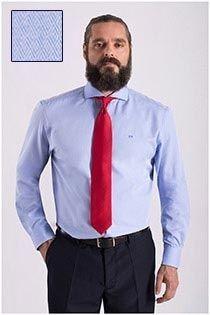 Katoenen dressoverhemd met structuurtje Carlos Cordoba