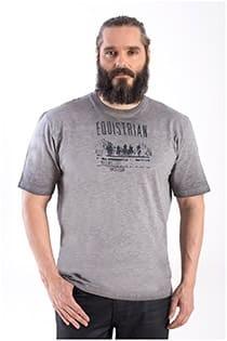 Korte mouw t-shirt met print van Hajo