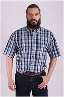 Ruiten korte mouw overhemd van GCM Originals