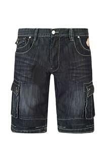 Black denim bermuda 5-pocket van KAM Jeanswear