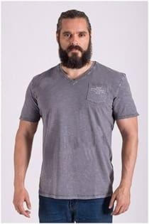 Vintage washed korte mouw t-shirt Redfield.