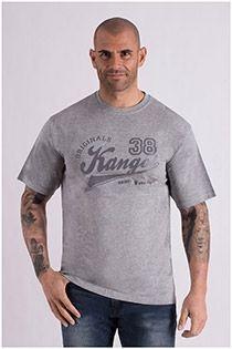 Katoenen korte mouw T-shirt Kangol