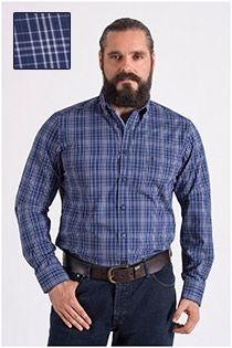 Casamoda ruiten lange mouw overhemd