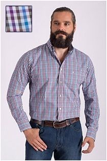 Casamoda ruiten extra lang overhemd