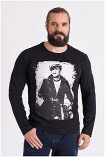 Redfield T-shirt lange mouw Marlon Brando