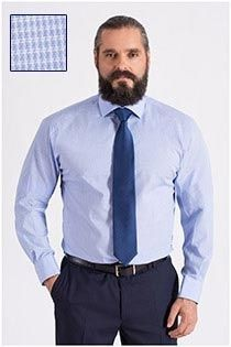 Plus Man dress shirt lengtematen