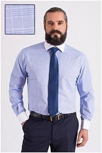 Dress overhemd met contrasten van Plus Man