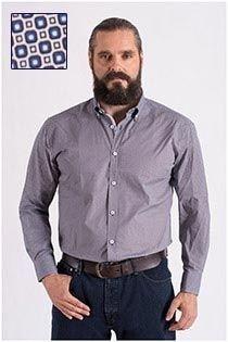 Bedrukt overhemd extra lange mouw van Plus Man