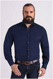 Uni extra lang overhemd Plus Man
