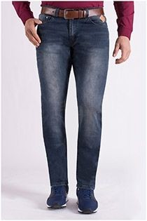 Elastische 5-pocket jeansbroek van KAM Jeanswear.