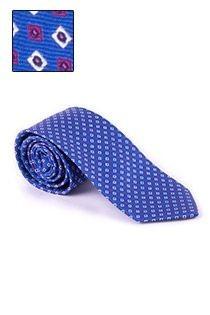 Bedrukte zijden stropdas van Plus Man