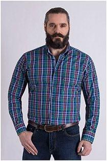 Lange mouw overhemd van Plus Man