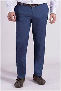 Katoenen chino broek van Plus Man.