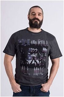 Korte mouw 'rock and roll' t-shirt van Replika