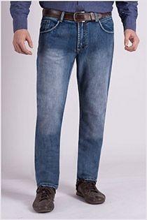 Zwaar gewassen 5-pocket jeansbroek van Koyote