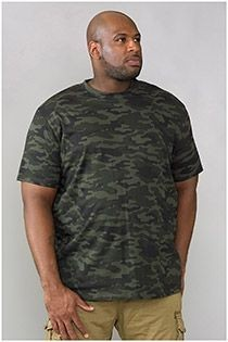 EXTRA LANG Korte mouw t-shirt D555 Camouflage