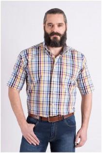 Ruiten korte mouw overhemd van GCM Henderson