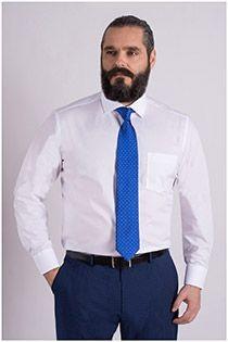 Effen easy care dress overhemd Casamoda
