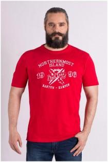 Extra LANG T-shirt met borstprint van Kitaro