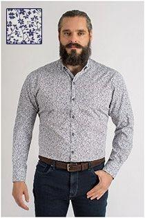 Extra lang bedrukt overhemd van Plus Man