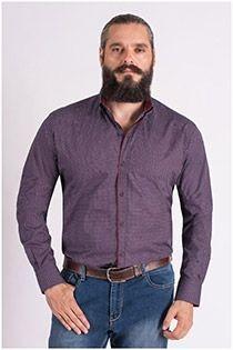 Bedrukt lange mouw overhemd van Plus Man