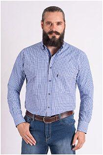 Ruiten overhemd met lange mouw van Plus Man