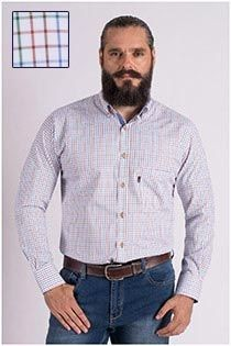 Extra lange mouw ruiten overhemd van Plus Man