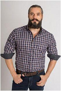 Ruiten overhemd lange mouw van Plus Man