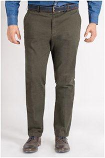Katoenen 5-pocket stretchbroek van Plus Man.