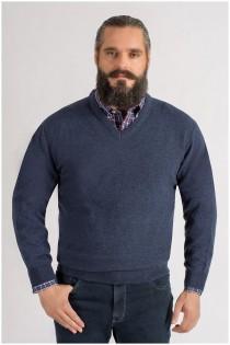 Extra lange lamswollen trui van Kitaro