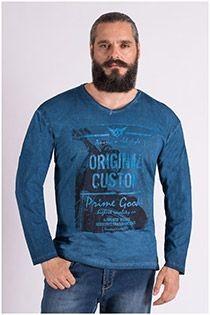 V-hals t-shirt lange mouw van Forestal