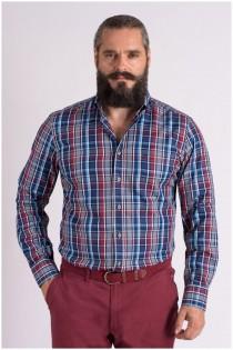 Ruiten lange mouw overhemd van Casa Moda EXTRA LANG