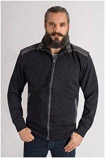 Extra lang katoenen jack van KAM Jeanswear