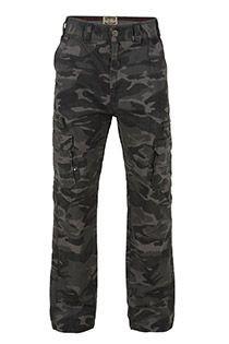 Camouflage cargobroek van KAM Jeanswear
