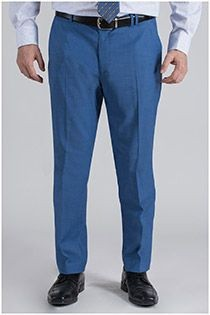 Extra lange elastische viscose businesspantalon van Plus Man