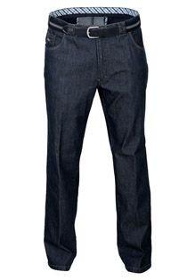 Elastische 5-pocket jeans met riem van Luigi Morini.