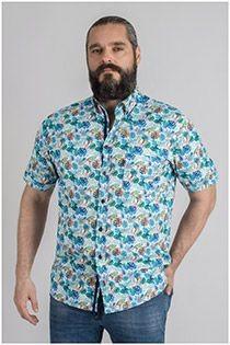 Korte mouw overhemd Plus Man all-over print