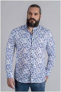 All-over print lange mouw overhemd Plusman