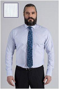 Lange mouw gestreept dress overhemd van Plusman
