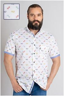 Korte mouw overhemd Plus Man all-over print